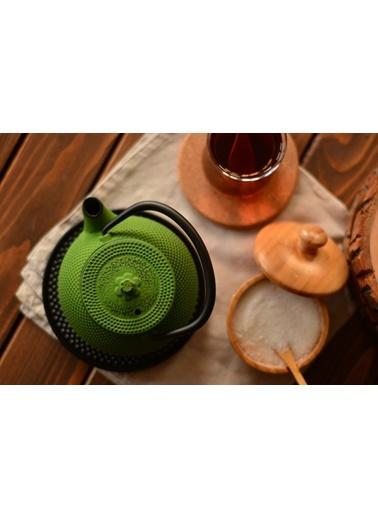 Taşev Linden - Sümbül 300 ml Fıstık Yeşil Döküm Çaydanlık-Bambum